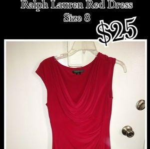 Ralph Lauren Red Dress size 8